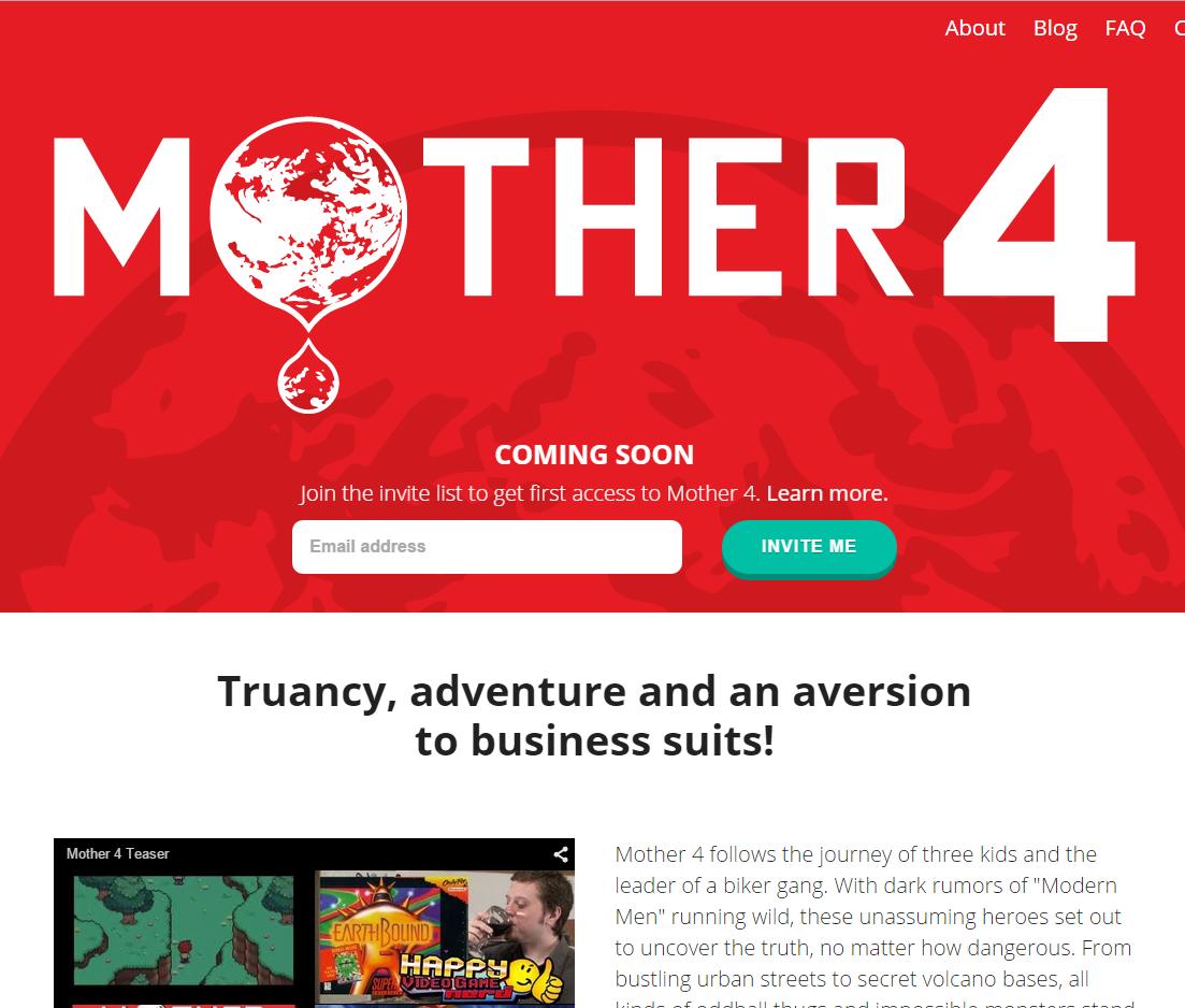 『mother4』が発売延期。でもYoutubeで見る限り出来は期待できる。