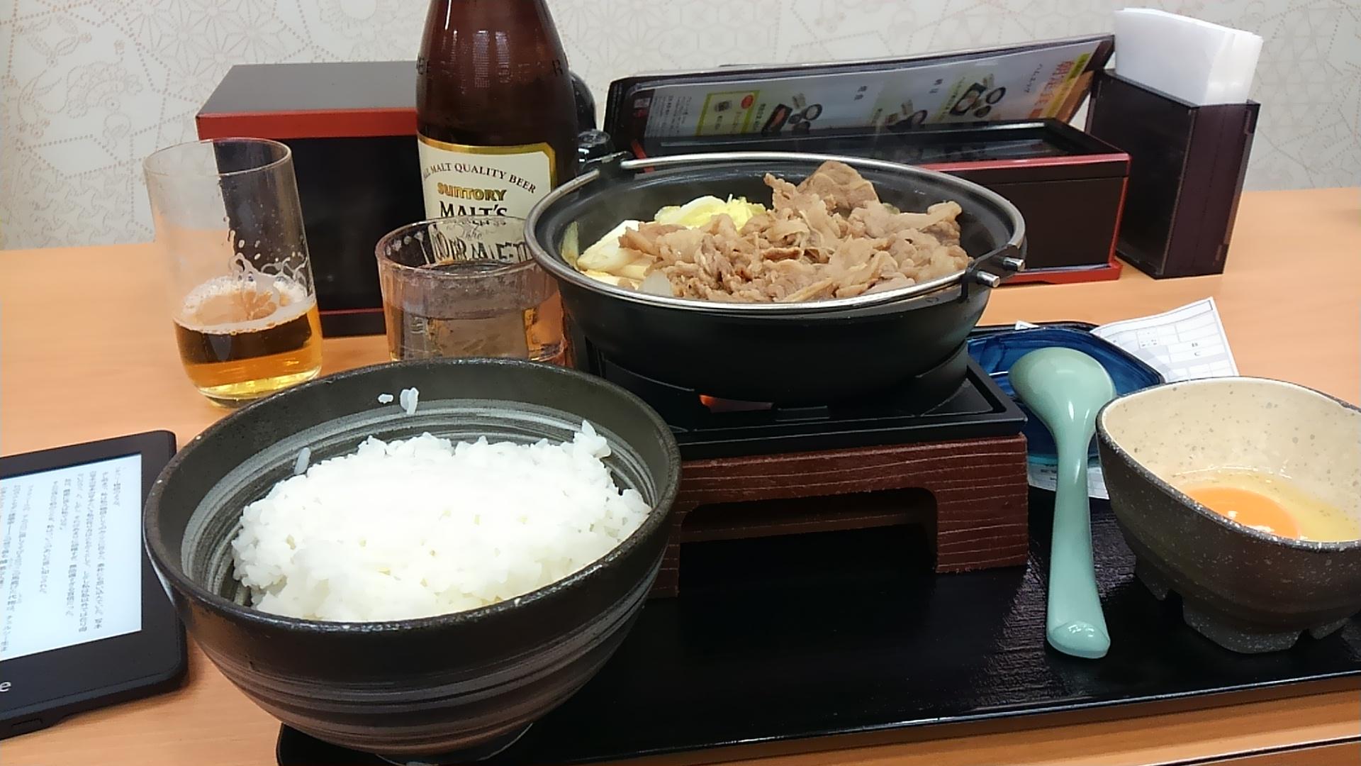 吉野家で牛すき鍋食べた噺